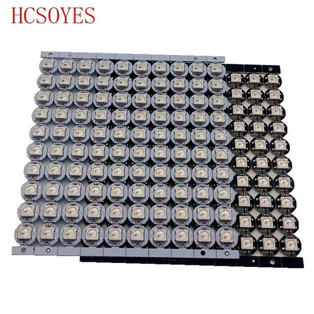 10 ~ 100 pcs WS2812B LED 개별적으로 주소 지정 가능 WS2811 IC rgb 흰색/검정색 2812b led 방열판 (10mm * 3mm) 5050 SMD RGB 내장