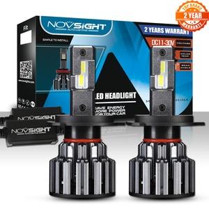 Image 1 - NOVSIGHT H4 Hi Lo BeamหลอดไฟLED 90W 15000LM H7 H11 9005 9006 LEDรถยนต์ไฟหน้าด้านหน้า 6000K 12V 24V