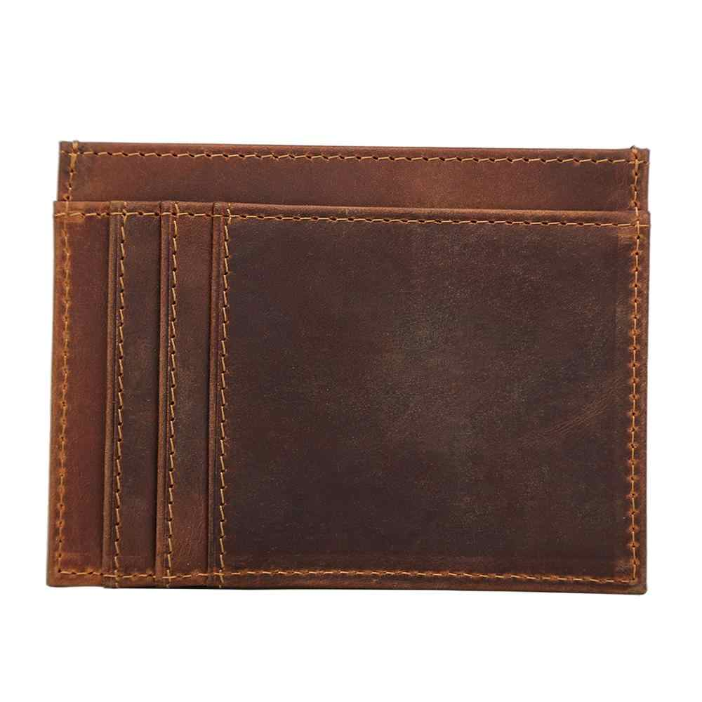 Men/'s Slim Wallet Money Clip Credit Card ID Coin Holder Retro Leather Purse NEW