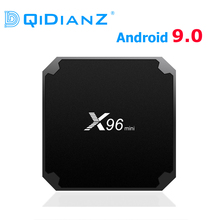 DQiDianZใหม่Android 9.0 X96กล่องมินิทีวี1GB 8GB AMLOGIC S905WสนับสนุนQUAD CORE 2.4GWIFI H.265 x96MINI MEDIA PLAYER