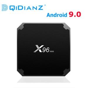 Image 1 - DQiDianZ yeni Android 9.0 X96 Mini TV kutusu 1GB 8GB AMLOGIC S905W dört çekirdekli desteği 2.4g wifi H.265 X96MINI medya oyuncu
