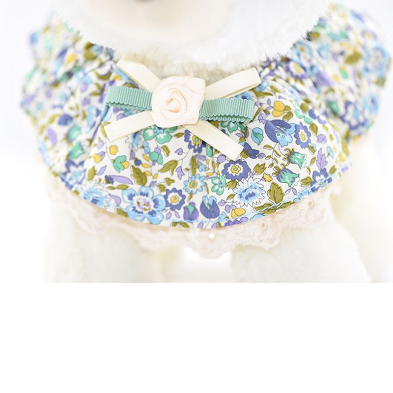 S Code Colored Cloth Scarf Korean Series Bow Tie Cat Dog Printed Neck Ring Teddy Small Dogs Large Bell Cat Neck Ring