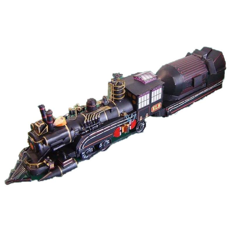 Train DIY 3D Paper Card Model Building Sets Construction Toys Educational Toys Vehicle Model