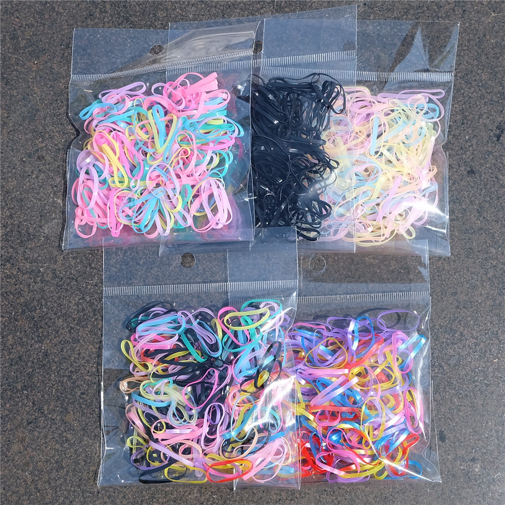 200/500pcs/set Kids Colorful Small Strong Rubber Bands Ponytail Holder Elastic Hair Bands Hair Accessories For Girls Baby