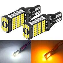 Uds 900Lm T15 W16W LED Canbus bombillas 920 912 4014SMD blanco rojo 12V LED luces de marcha atrás para BMW Mercedes Benz W203 W211 W204