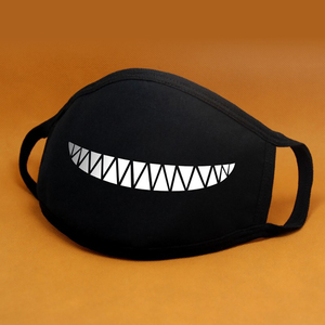 Image 5 - Cartoon Cotton Face Mask Mouth Black Anti Dust Anti Pollution Respirator Mask Fashion Cute Bear Kpop Animal Face Mouth Masks