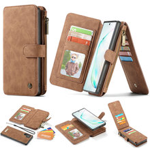 Luxury Leather Case For Samsung Galaxy Note 10 PLUS New Flip Card Wallet Cover Business Phone Case For Samsung Note 10+