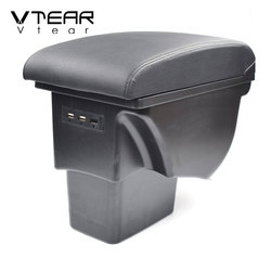 Vtear for Kia soul armrest box accessories car-styling USB storage box arm rest automobile decoration center console interior