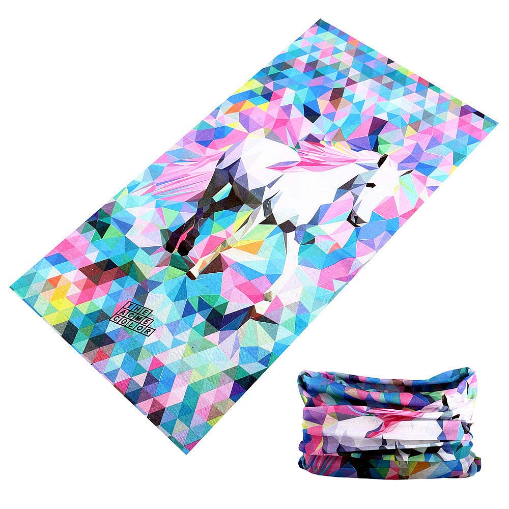 Rainbow Horse Women Men Buffe Magic Cycling Bandana Outdoor Sport Neck Warmer Headband Face Shield Mask Bicycle Head Scarf Baff