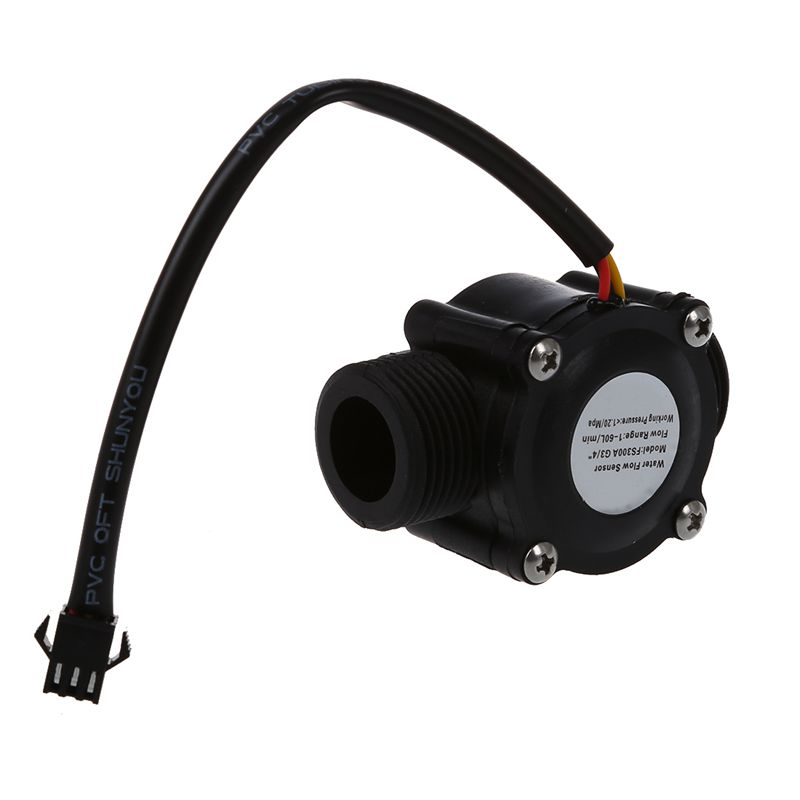 1-60L/Min DC 5-24V Hall Effect Water Flow Sensor Counter Meter FS300A CNIM Hot