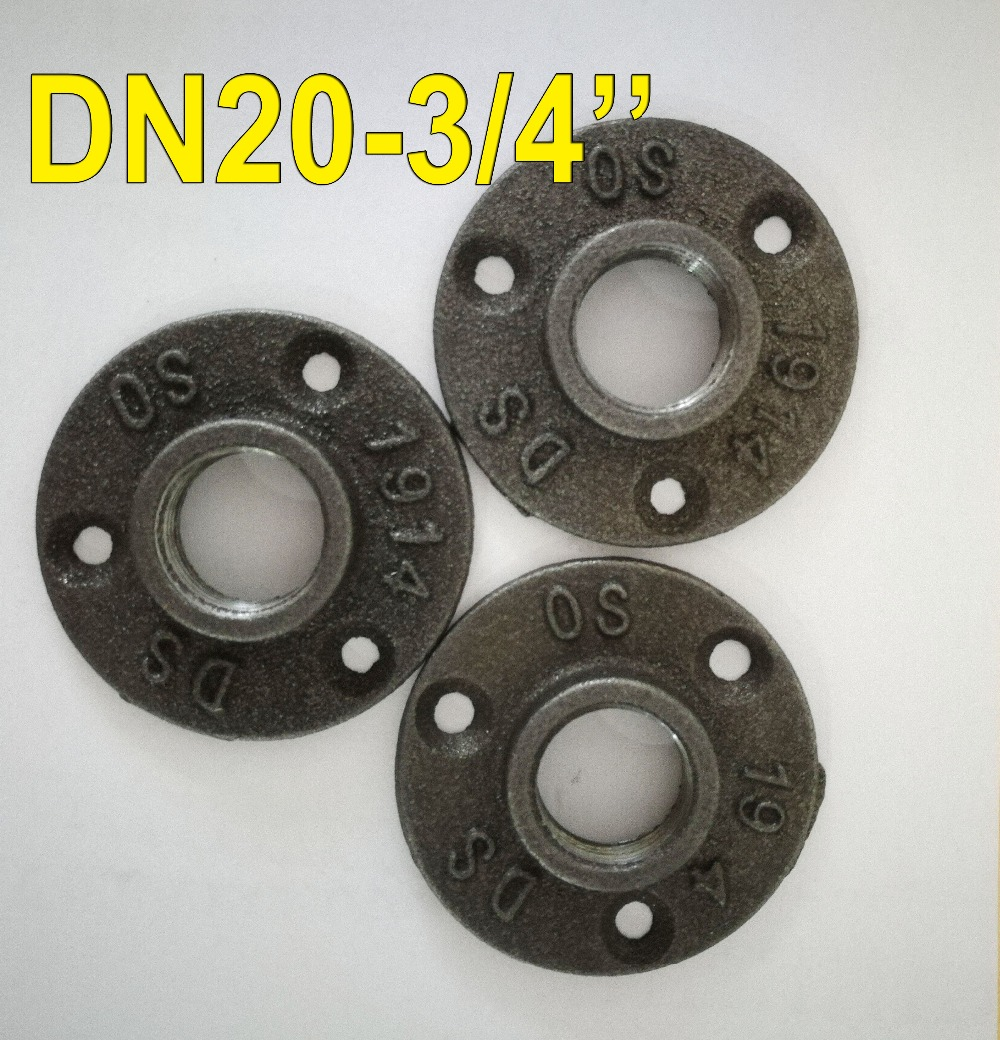 3Pieces/Lot (-DN20-3/4'')Cast Iron Flange Wall Base DIY Furniture Industrial Pipes Legs Loft Industrial Table Cabinet Feet