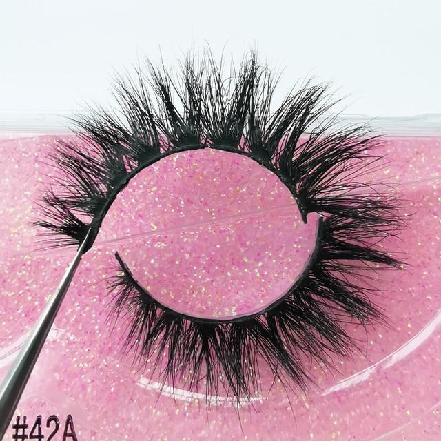 New Fluffy 3D Eyelashes Mink Lashes Makeup Full Strip Lashes Cruelty Free Lashes Luxury Mink Eyelashes maquiagem cilio faux cils 4