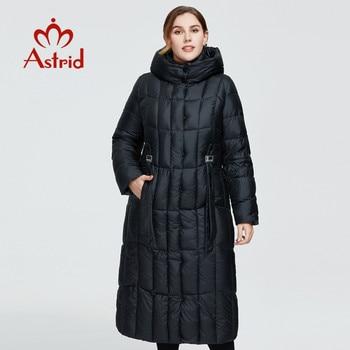 Astrid 2020 delle Nuove donne di Inverno cappotto lungo delle donne parka caldo Plaid di modo di spessore Giacca con cappuccio di grandi dimensioni abbigliamento femminile 9546 1
