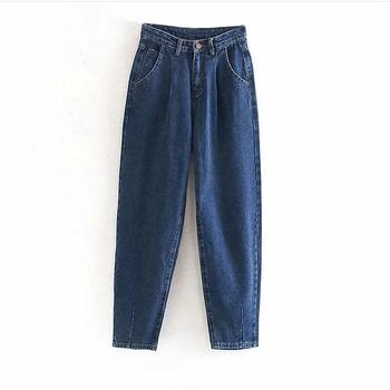 catonATOZ 2248 Khaki Female Cargo Pants High Waist Harem Loose Jeans Plus Size Trousers Woman Casual Streetwear Mom Jeans 7