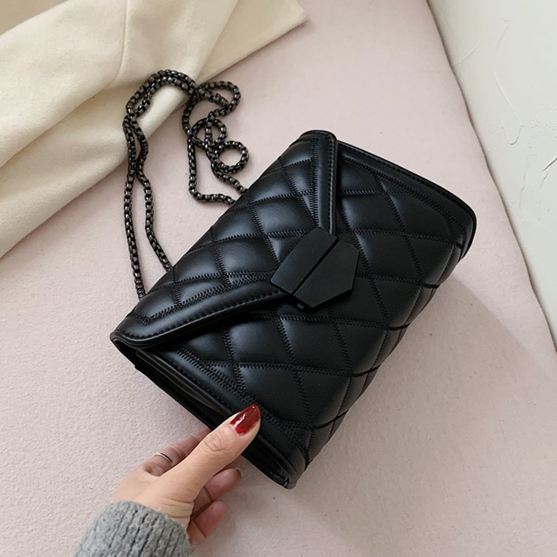 Small PU Leather Crossbody Bags For Women 2020 Quailty Shoulder Messenger Bag Female Travel Handbags Chain Cross Body Bag