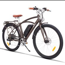 Yüksek kalite yeni 2021 elektrikli bisiklet dağ bisikleti pil uzun dayanıklılık klasik kahverengi süper seviye Ebike yetişkin LCD ekran