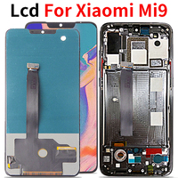 6.39 Lcd For Xiaomi Mi 9 Mi9 LCD Display Touch Screen Digitizer with fingerprint Assembly For Xiaomi 9 lcd Replacement Part