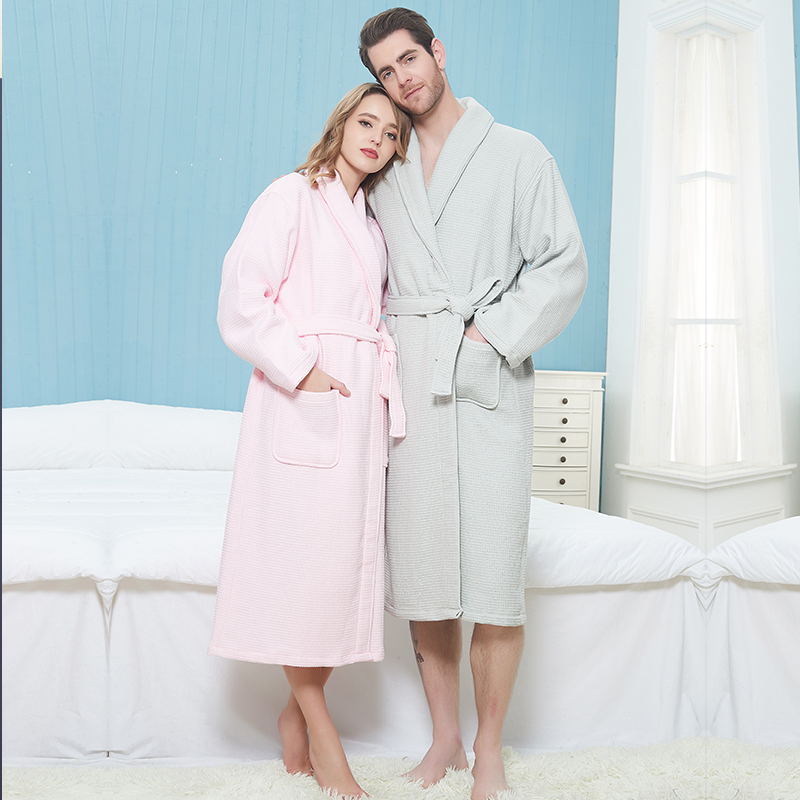 Cotton Men Robe 100% Cotton Solid Color Bathrobes High Couple Thick Warm Sleepwear Plus Size Home Dress Clothes Thermal Cloths