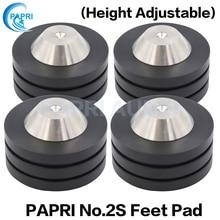 PAPRI Stand Feet Base 49x31MM Spikes 304 Stainless Steel Graphite Isolation Speaker Amplifier For Audio Amplifier Speaker 4PCS