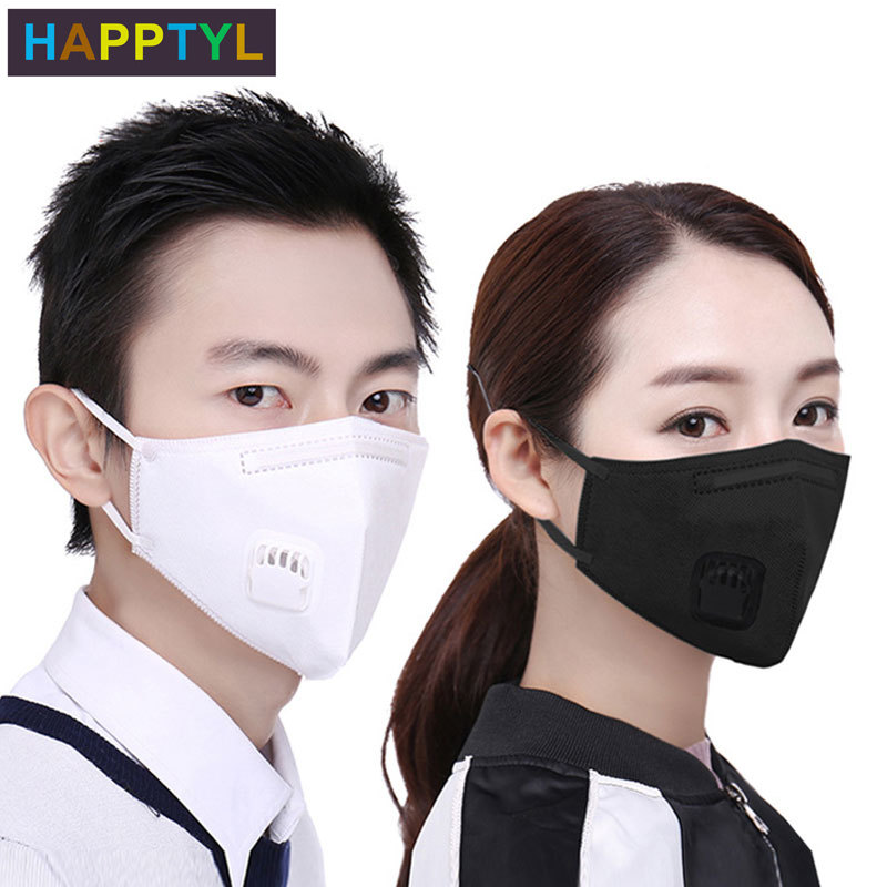 HAPPTYL 2Pcs/Lot Fashion Unisex Cotton Breath Mouth Mask Anti-Dust Anti Pollution Mask Respirator Mouth-muffle
