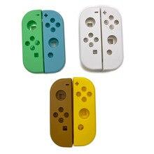Yeşil sarı sınırlı sayıda plastik sağ sol konut Shell kılıf kapak için Nintendo anahtarı NS NX Joy Con denetleyici