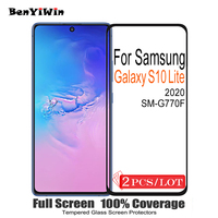 Protector de pantalla de cristal templado para Samsung Galaxy S10 Lite, Protector de pantalla de vidrio 100% Original para SM G770F, 2 uds.