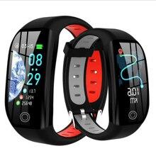 Pulseira inteligente bluetooth relógio de fitness rastreador sono freqüência cardíaca monitoramento de pressão arterial lembrete informações inteligente pulseira