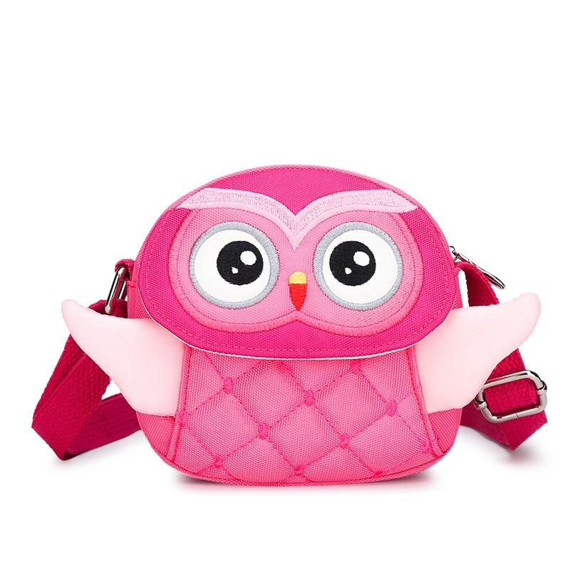 New Kindergarten Baby Backpack With Belt Cute Cartoon Owl Children's Bag Mini Oblique Satchel Birthday Gifts For Children