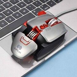 Mysz do gier przewodowa USB 3200DPI regulowane klawisze definicja makro podświetlenie RGB Gamer myszy na komputer PC