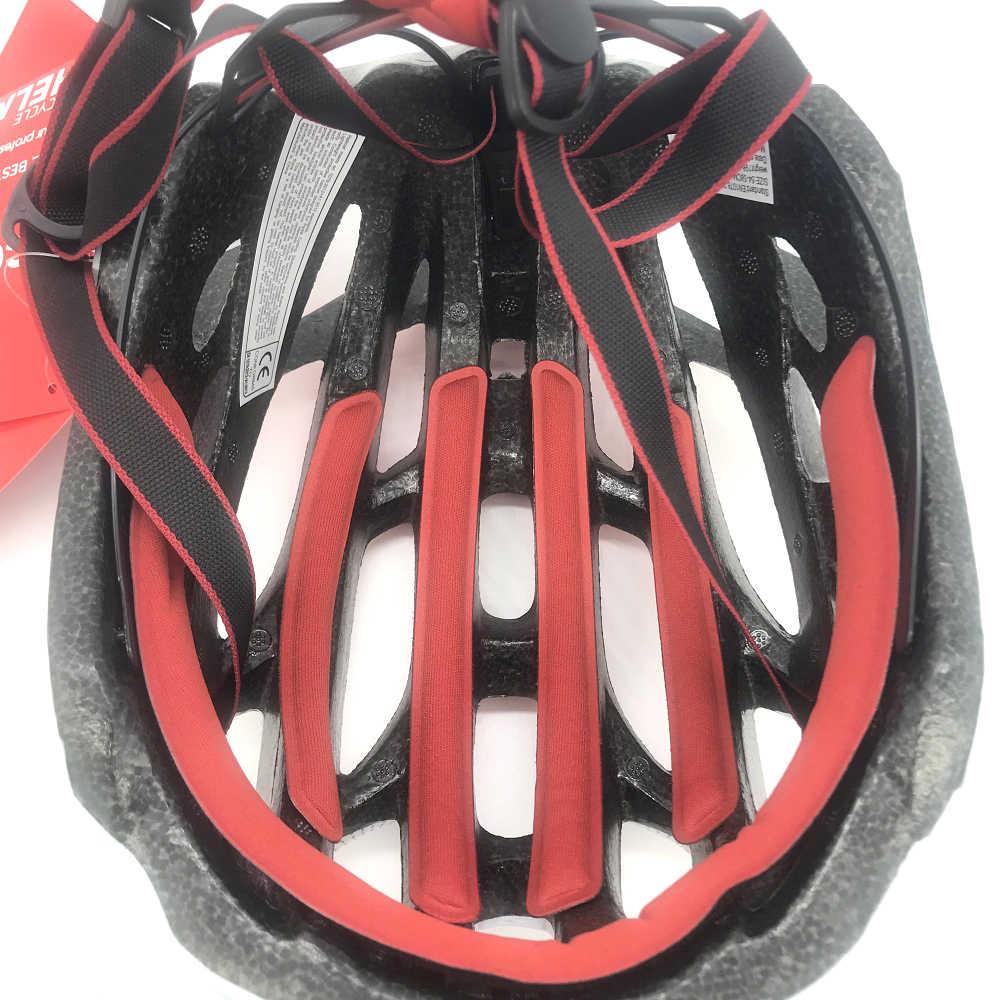 خوذة لركوب الدراجات بشكل متكامل مع ضوء مقاس M/L LED خوذة أمان للدراجات الهوائية خوذة رياضية للطرق الترياتلون خوذة سرعة لركوب الدراجات للبالغين