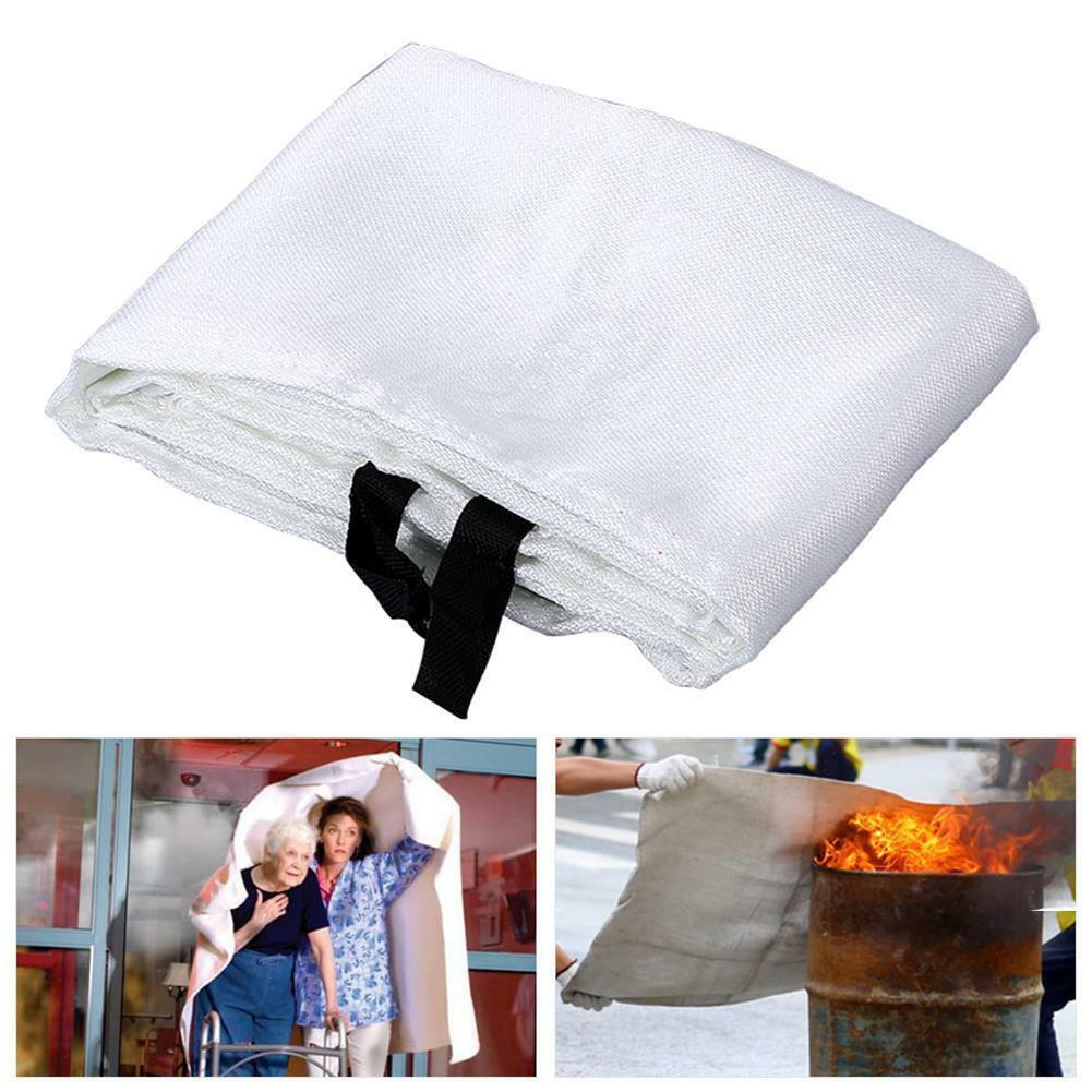 Fire Emergency Blanket Survival Fiberglass Shelter Safety Cover For Home Kitchen Camping ING-SHIPPING
