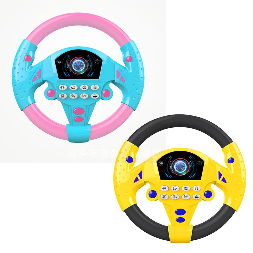 Co Piloting Simulation Steering Wheel Child Simulation Small Steering Wheel Early Education Puzzle Sound Toys Electronic Toys