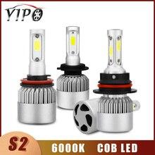 h7 led bulb h4 headlight h11 H1 H3 880 H7 H11 9005 9006 hb3 hb4  H13 9004 9007 auto cob  lampada headlamp Car Light 12V 6000K S2 18pcs cob h1 h4 h7 h11 hb3 hb4 led coche faros bombillas 18w 6000 k s7 auto faro luz de niebla 9 v led h7 fa