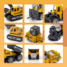 Mini Truck Kids 1:64 Diecast Engineering Toy Vehicle Alloy Car Model Excavator Bulldozer Forklift Dump Truck Mixer 6pcs Toys Car cat caterpillar ct660 dump truck yellow 1 50 model by diecast masters 85290