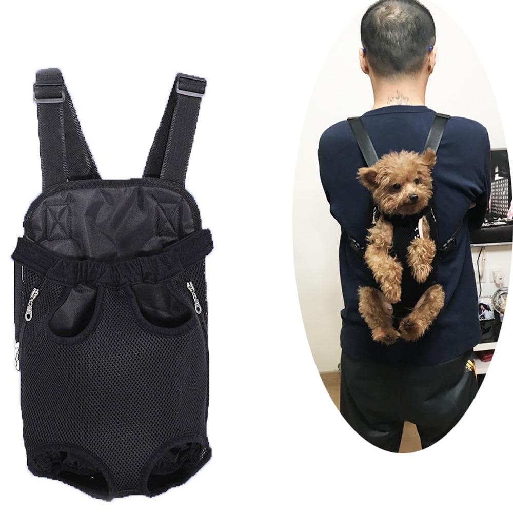 Для переноски питомца ошейник, поводок Рюкзак-кенгуру; Дышащий; Для ношения спереди переноска для собаки щенка сумка для переноски путешест...