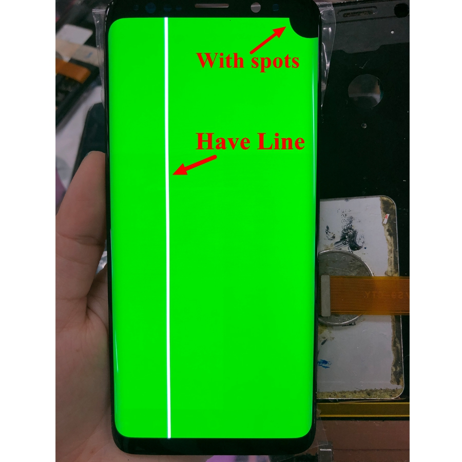 For Samsung S8 LCD Display Touch S8 Plus LCD S8 Display For Samsung S8 Plus LCD Band Line Display Dead Pixels Defective Screen