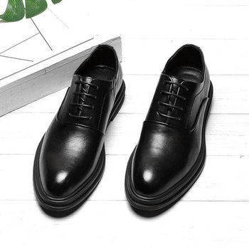 Mens Dress Shoes Oxfords Business Office Pointed Black Brown Lace-Up Men's Formal Shoes Wedding shoes C21-15