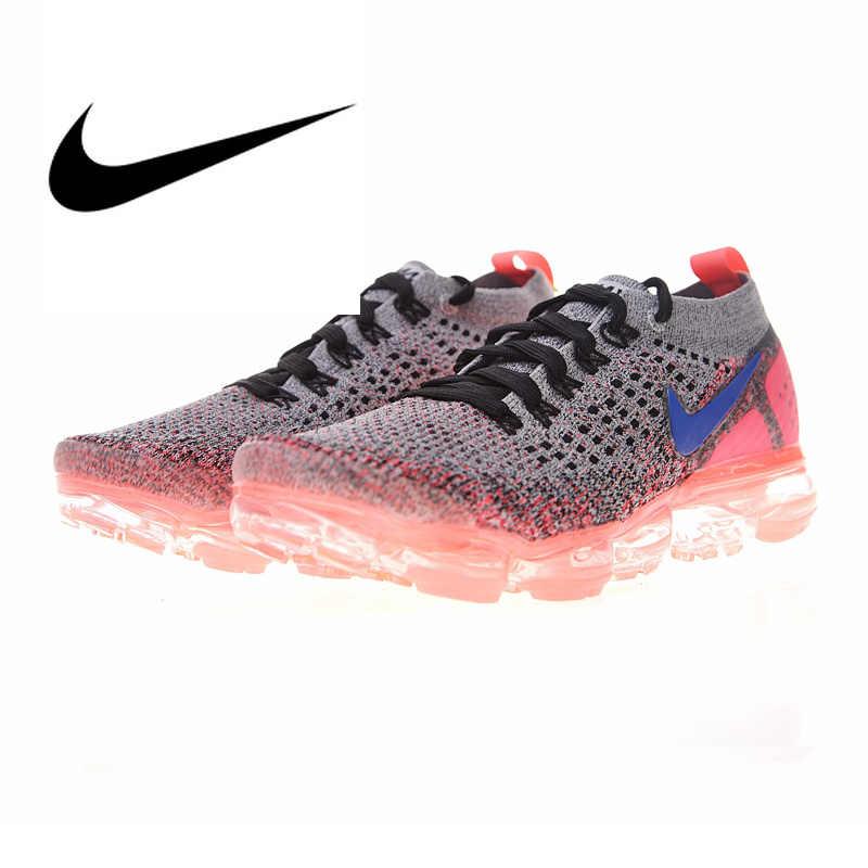 Оригинальный подлинный бренд Nike Air VaporMax Flyknit 2,0 Женская Беговая спортивная обувь уличные кроссовки спортивные дизайнерские 942843-201