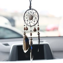 Mini Home Decoration Retro Feather Dream net Catcher Feathers Wall Hanging Dream Net tkactwo Decor prezenty do wystroju pokoju samochodowego(China)