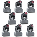 Mingzhi (8pieces/lot) LED RGBW 10W Mini Moving Head Beam Lights LED Strong Beam Light For Party Disco DJ Light