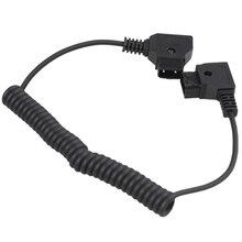 Спиральный D-TAP кабель «Папа-папа» для DSLR Rig кабель для Батареи Anton Bauer WY16