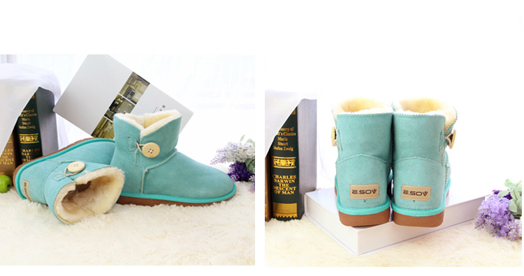 Hot winter warm cotton shoes, medium boots, leather snow boots, short boots, flat boots, women's boots, women's shoes