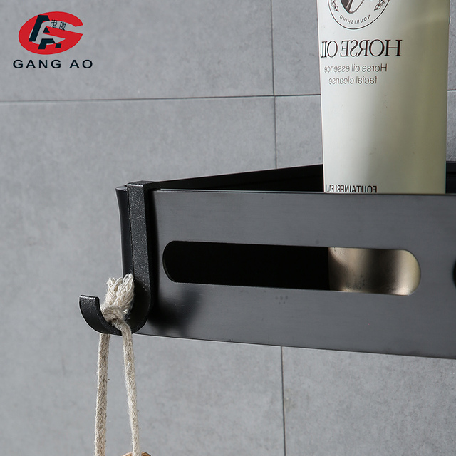 Купить черная полка для ванной длина кухонных настенных полок душевая картинки цена
