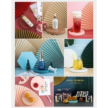 Éventail pliant en papier, 13 couleurs de fond, décoration de fond pour Photo, accessoires de prise de vue, Offres Spéciales