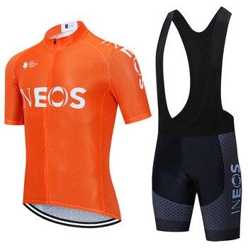 Equipo 2020 ineos naranja ciclismo jersey bicicleta Ropa mtb Ropa de verano...