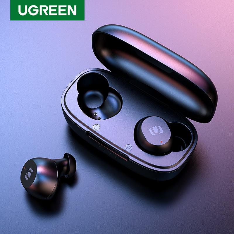 UGREEN TWS Bluetooth Kopfhörer NEUE 2020 Kopfhörer Wahre Drahtlose Ohrhörer In Ohr Stereo Headset Sport TWS Bluetooth 5,0 Kopfhörer