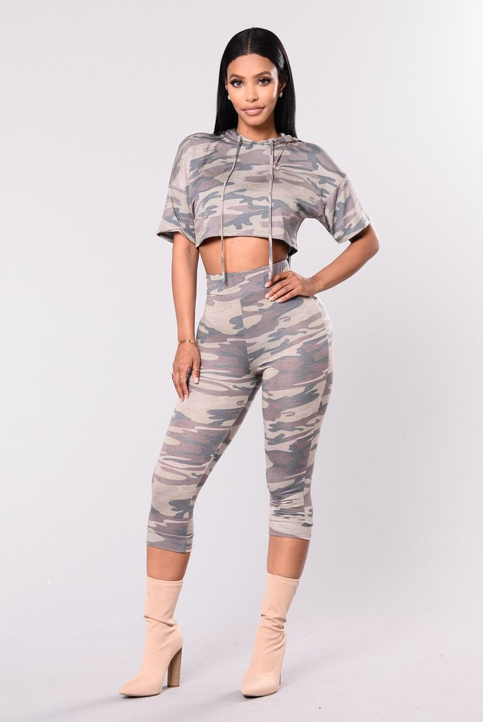 Hot Selling Fashion Leisure Sports Suit Summer WOMEN'S Dress Camouflage Suit