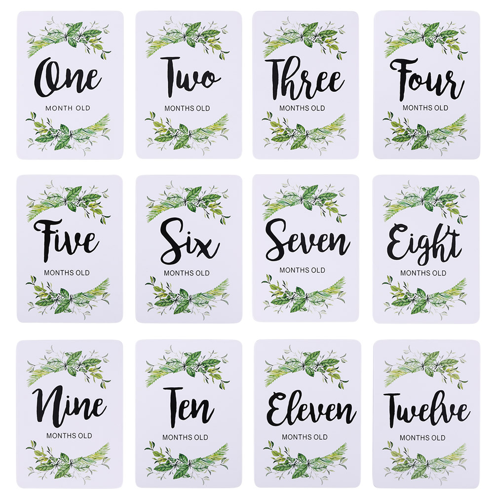12pcs Newborn Baby Monthly Stickers Exquisite Craftsmanship Sturdy Durable 1-12 Month Milestone Memory Photograph Props