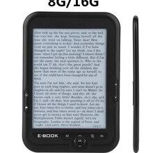 Nowy 8G 16G czytnik e-booków E-tusz 6 cal E czytnik 800x600 rozdzielczość wyświetlacz 300DPI niebieska okładka 16GB 8GB 4GB eBook