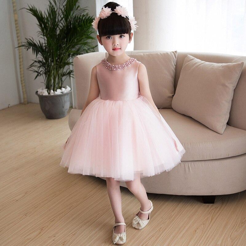 Baby A Year Of Age Birthday Princess Dress Girls Costume 2019 New Style Children Wedding Dress Tutu Dresses Of Bride Fellow Kids